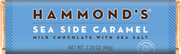 Hammond's Natural Sea Side Caramel Milk Chocolate Candy Bar