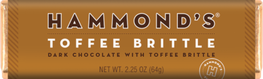 Hammond's Natural Toffee Brittle Dark Chocolate Candy  bar