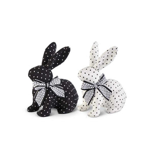 Black & White Polka Dot Bunny