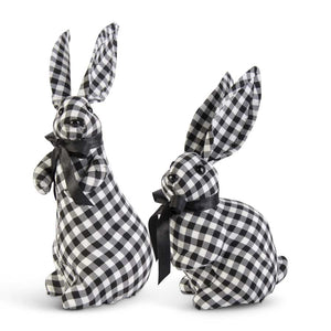 Assorted Black & White Gingham Bunnies