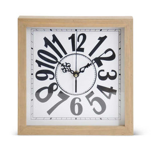 Tabletop Wooden Clock