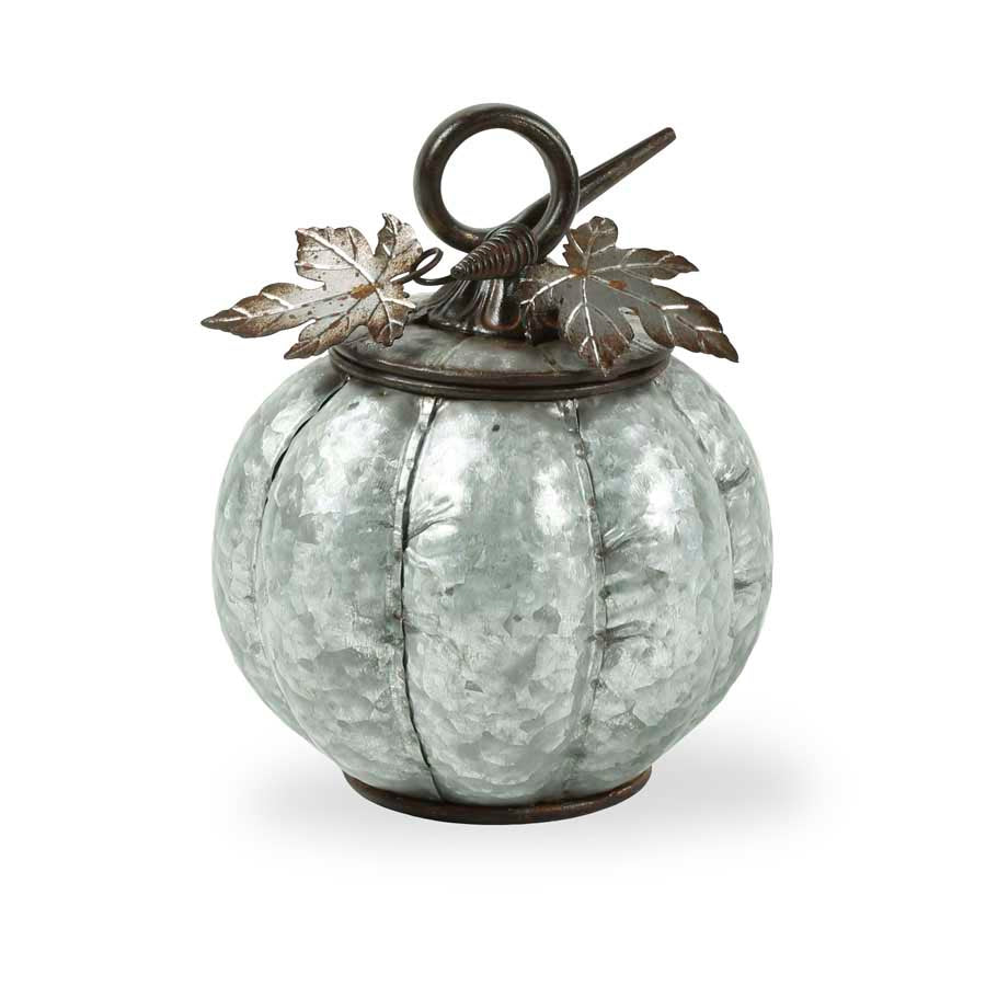 Metal Lidded Pumpkin