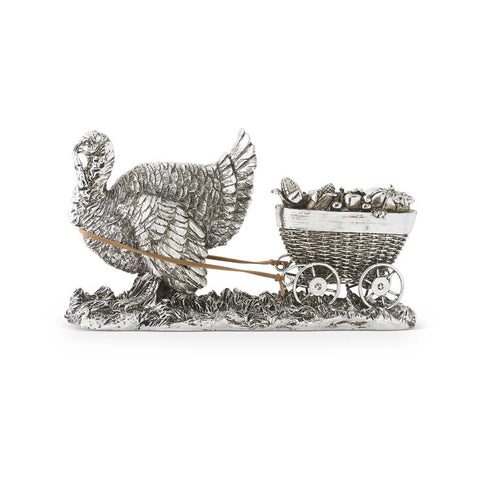 "9"" Happy Harvest Turkey & Cart"