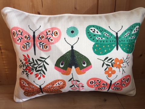 Botanical Butterfly Pillow