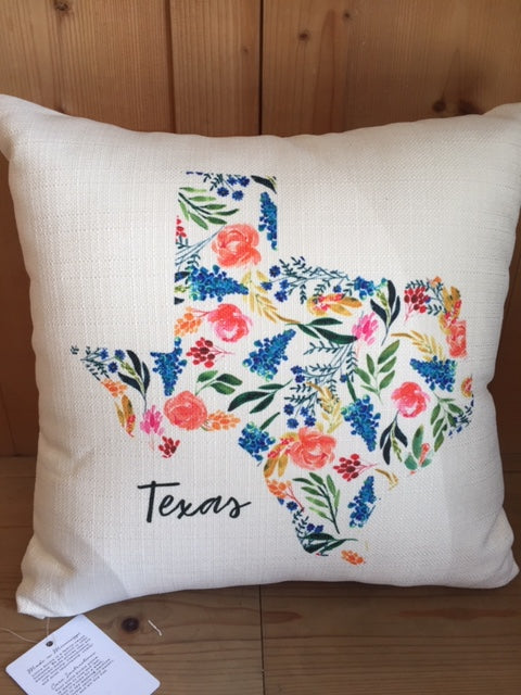 Texas State Pattern Pillow