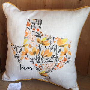 Texas Pillow in Yellow