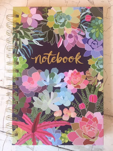 Spiral Notebook - Succulent Paradise
