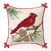 Cardinal Needlepoint Pillow