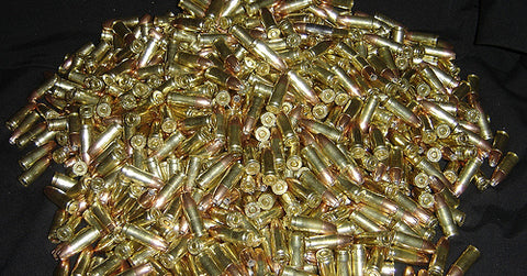 Pile of concealed carry handgun ammunition