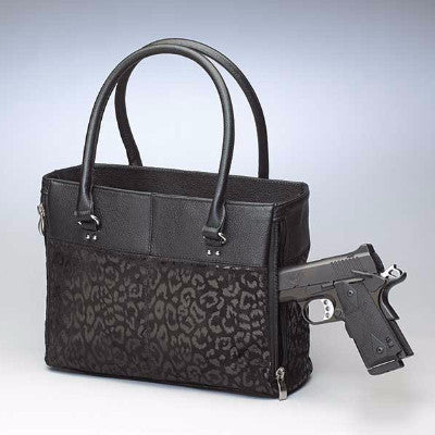 Leopard Embossed Tote with Gun