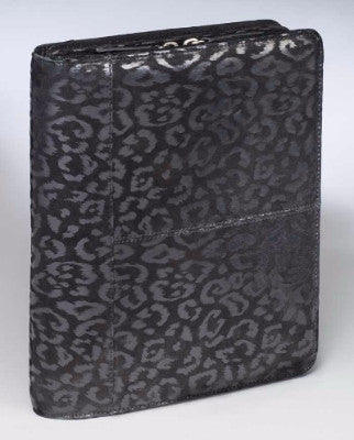 Embossed Leather Concealed Carry iPad Case - Leopard Print