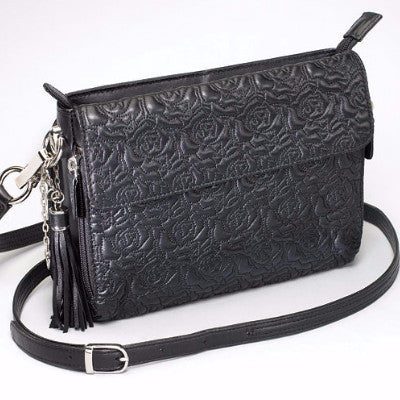 Embroidered Lambskin Concealed Carry Handbag