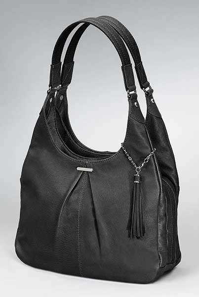 Black Slouch Bag - Concealed Carry