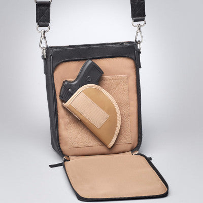 Retro Concealed Carry Bag with gun
