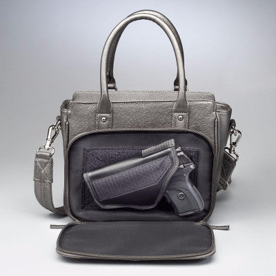 Gun Metal Colored Park Avenue Concealed Carry Handbag