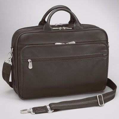 Man's Concealed Carry Leather Briefcase