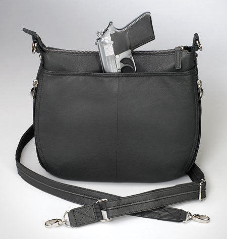 Chrome Zippered Concealed Carry Handbag