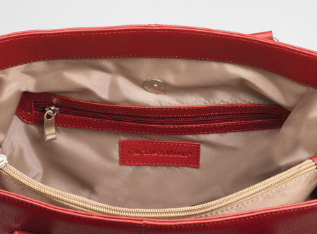 Main Compartment of CCW Purse | Red Tote
