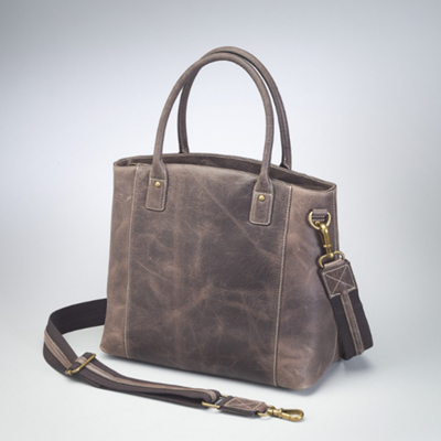 Buffalo Distressed Leather Tote