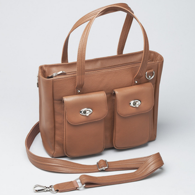 Cargo Pocket Cowhide Concealed Carry Tote