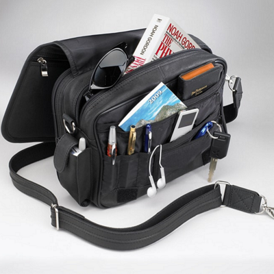 Practical Black Boston Handbag Organizer - Concealed Carry