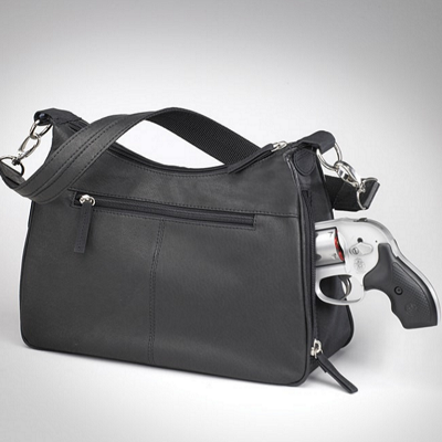 Black Hobo Handbag | Womens Concealed Carry Purse