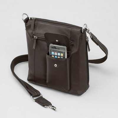 Leather Crossbody Flat Sac
