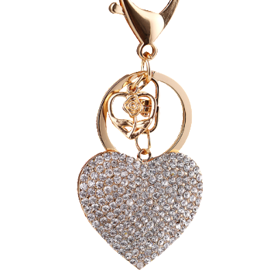 Sparkling Heart Bag Charm
