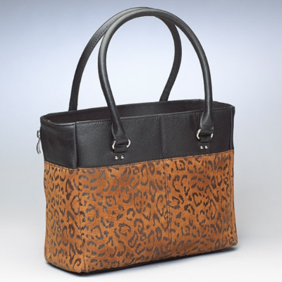 Open Top Tote - Leopard Print Embossed