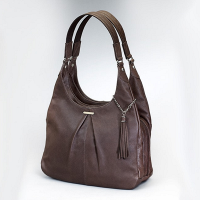 Brown Concealed Carry Slouch Bag