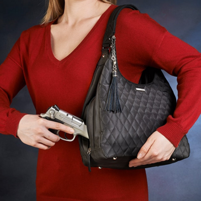 Quilted Slouch Concealed Carry Purse