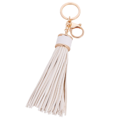 Leather Tassel Bag Charm