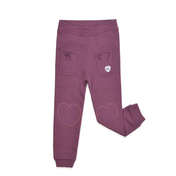 WoolLand Norway - Alesund Baby Girl Pants Raspberry (front)
