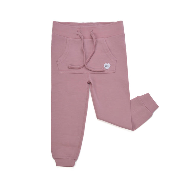 WoolLand Norway - Bergen Baby Girl Pants With Wings - Pink Blush (front)