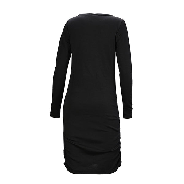 WoolLand Norway - Bukkehoi Merino Wool Womens Dress Black (Back)