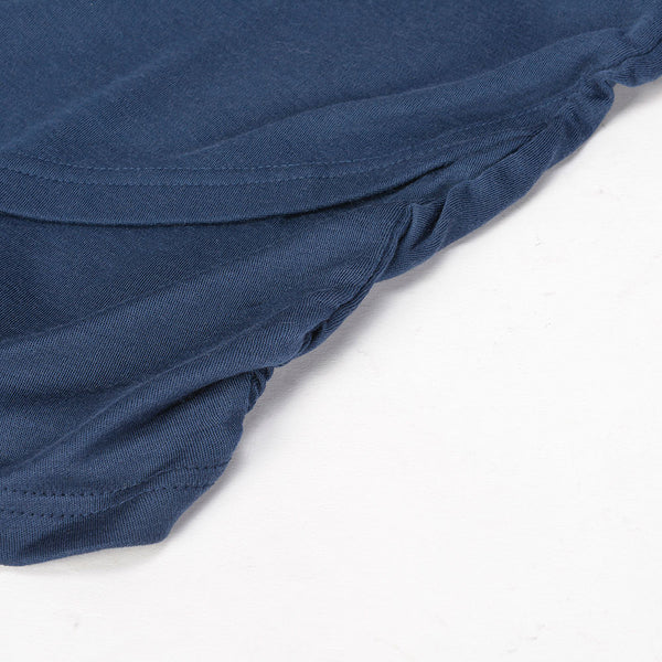 WoolLand Norway - Bukkehoi Merino Wool Womens Dress Night Blue (Side Detail)
