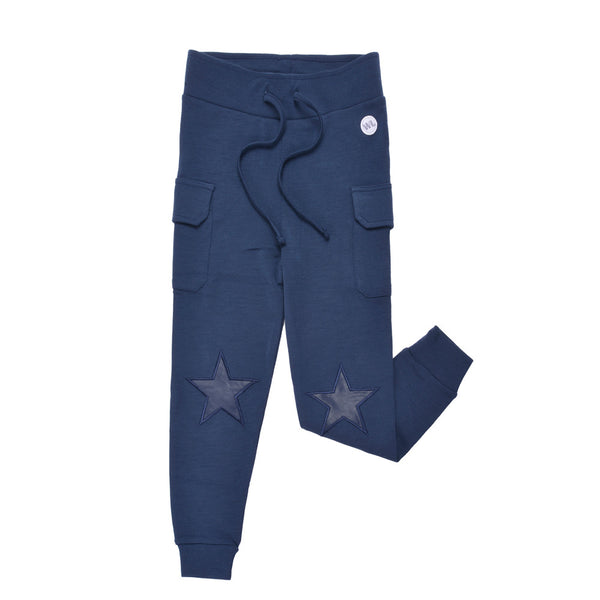 WoolLand Norway - Hamar Merino Wool Boy's Pants (9 - 14 Yrs) - Night Blue (front)