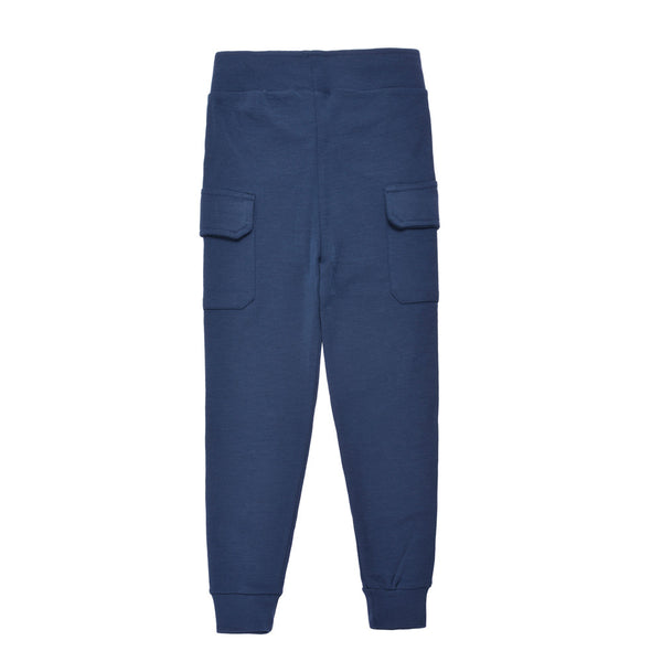 WoolLand Norway - Hamar Merino Wool Boy's Pants (9 - 14 Yrs) - Night Blue (back)
