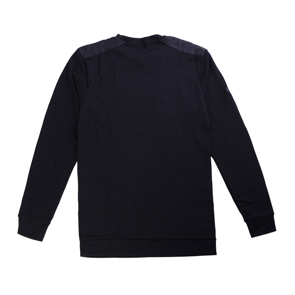 WoolLand Norway - Hokksund Merino Wool Men's V-Neck Jumper - Pure Black (back)