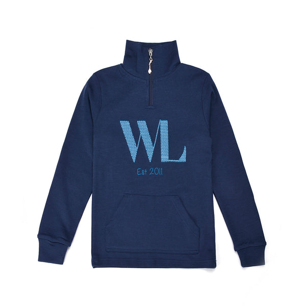 WoolLand Norway - Lyngdal Merino Wool Boy's Jumper (9 - 14 Yrs) - Night Blue (front)