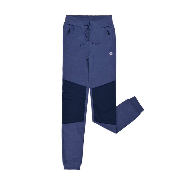 WoolLand Norway - Lyngdal Merino Wool Boy's Pants (9 - 14 Yrs) - Heavenly Blue (front)