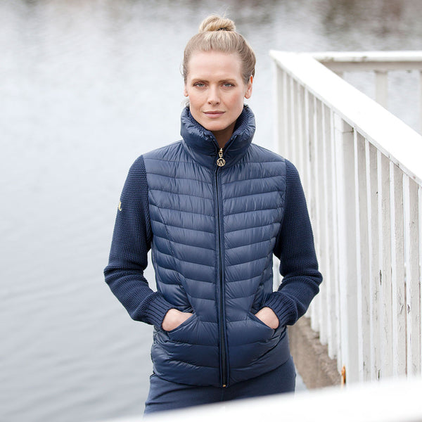 Woolland Norway - Mjosa Merino Wool and Down Jacket - Night-Blue (3)