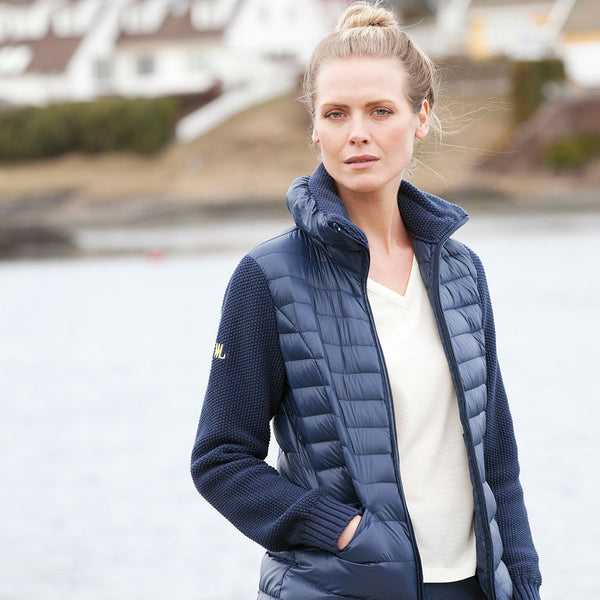 Woolland Norway - Mjosa Merino Wool and Down Jacket - Night-Blue (1)
