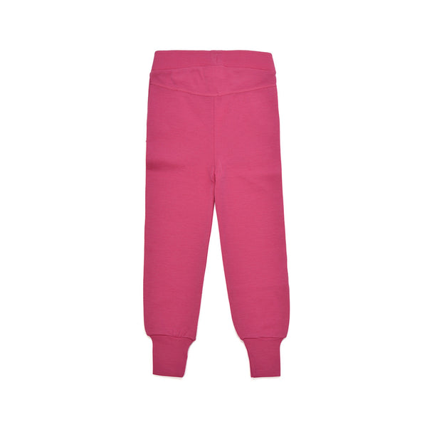 WoolLand Norway - Mysen Merino Wool Girl's Pants Berry (back)