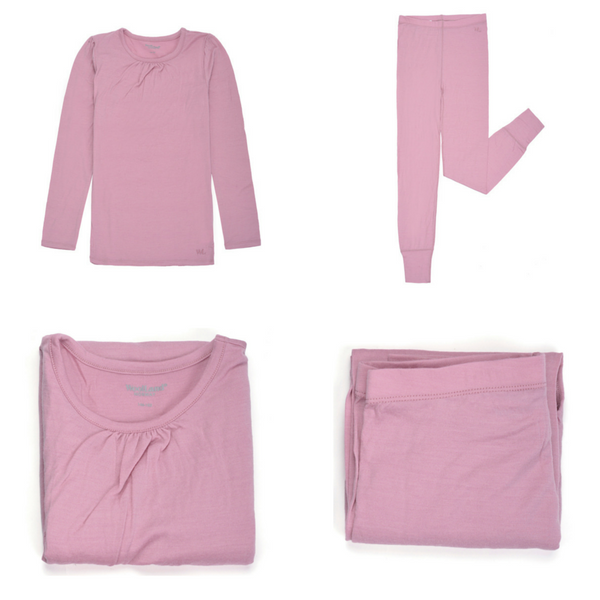 Sarpsborg Merino Wool Girls Base Layer - WoolLand Norway (1)