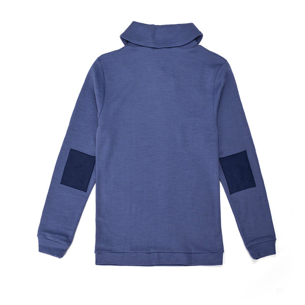 WoolLand Norway - Stord Merino Wool Boy Jumper Heavenly Blue (Back)