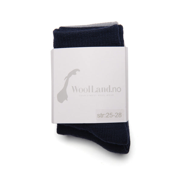 WoolLand Norway - Svelvik Merino Wool Socks - Night Blue Three Pack (1)