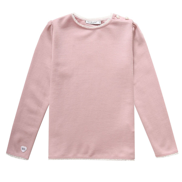 Bergen Merino Wool Girl's Jumper with Angel Wings