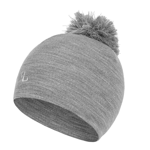 Sogne Merino Wool Beanie with Reflective Pom