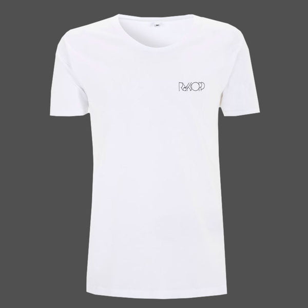 White Breast Neck Logo Men's T-shirt